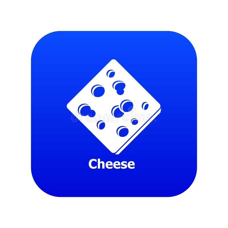 Vettore blu affettato dell'icona del formaggio royalty illustrazione gratis