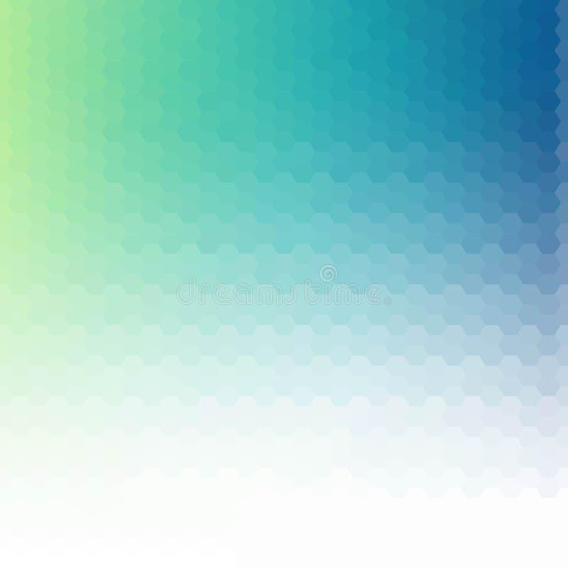 Vettore blu-chiaro che splende modello esagonale Un'illustrazione di colore completamente nuova in uno stile vago La progettazion royalty illustrazione gratis