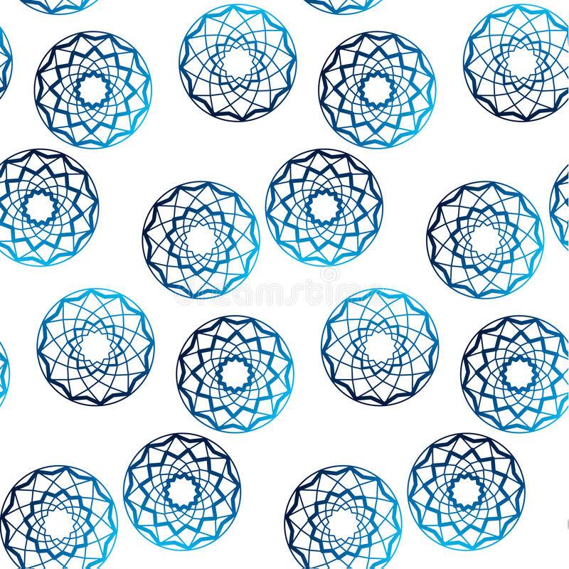 Vettore blu del pois di forma del diamante royalty illustrazione gratis