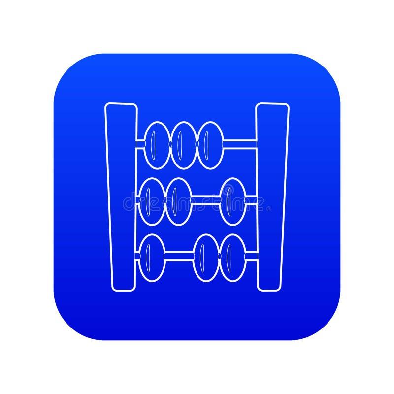 Vettore blu dell'icona dell'abaco royalty illustrazione gratis