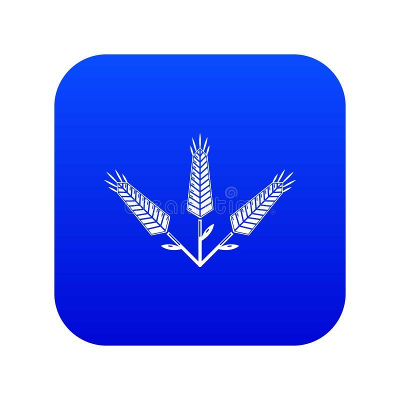 Vettore blu dell'icona abbondante del grano royalty illustrazione gratis