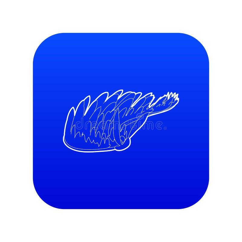 Vettore blu dell'icona dell'alga illustrazione vettoriale