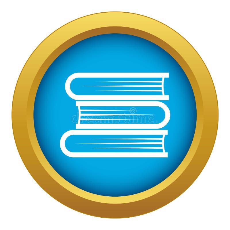Vettore blu dell'icona d'istruzione tre isolato illustrazione vettoriale