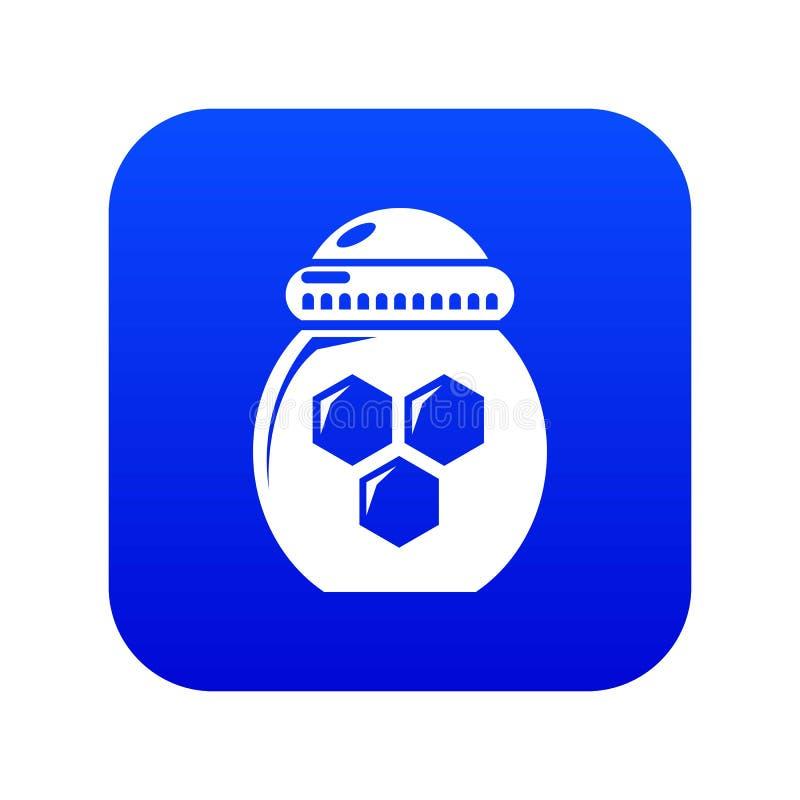 Vettore blu dell'icona del miele del barattolo illustrazione vettoriale