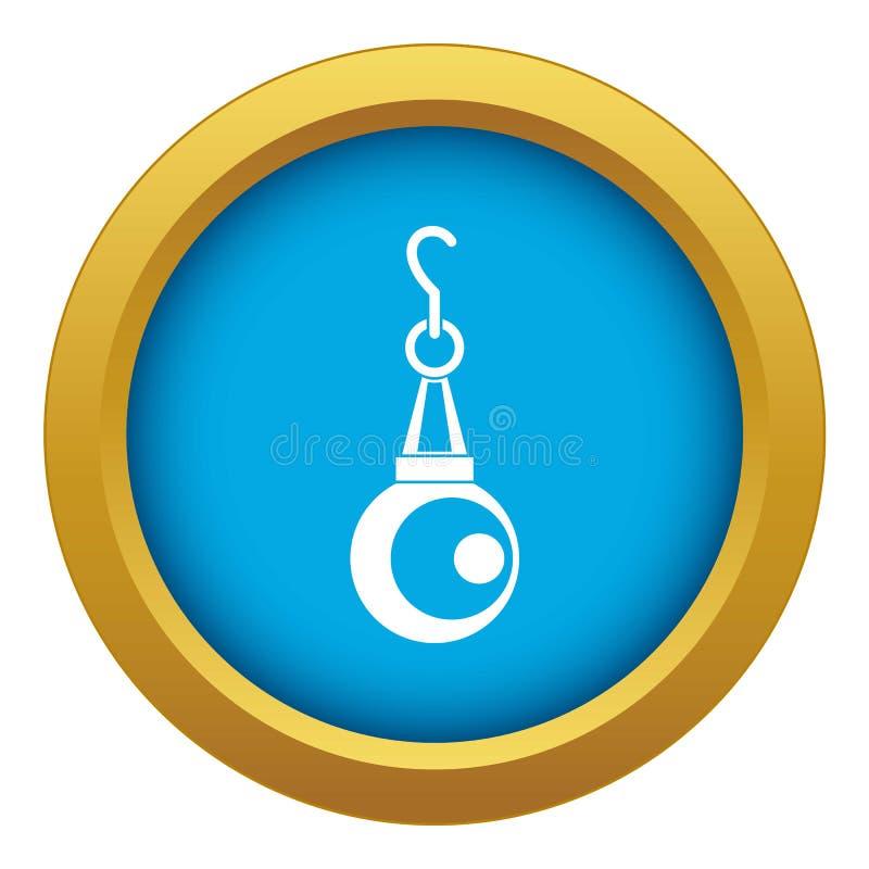 Vettore blu dell'icona del pendente della perla di bellezza isolato royalty illustrazione gratis