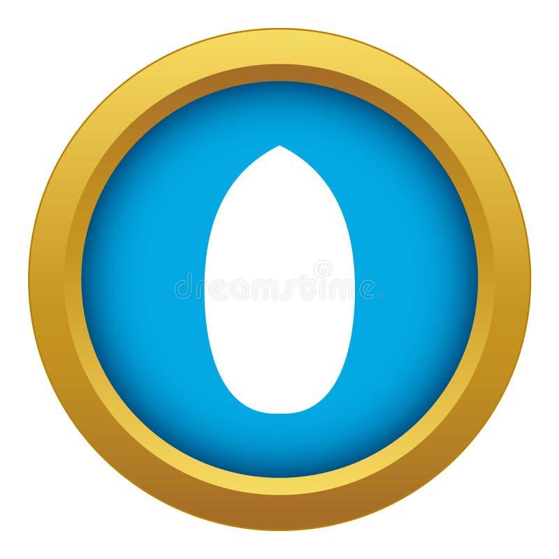 Vettore blu dell'icona della noce americana isolato illustrazione vettoriale