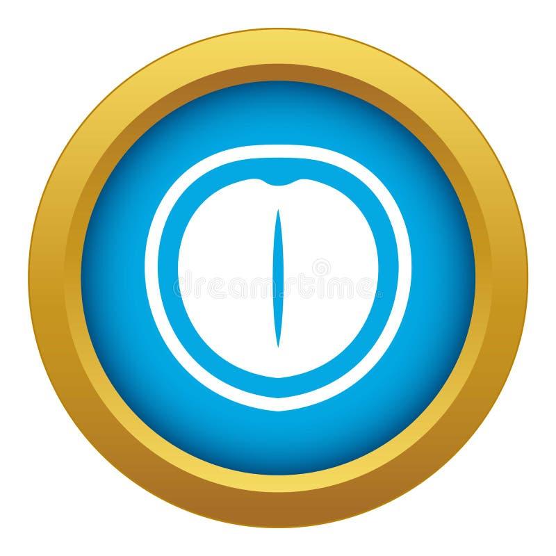 Vettore blu dell'icona della noce di macadamia isolato illustrazione vettoriale