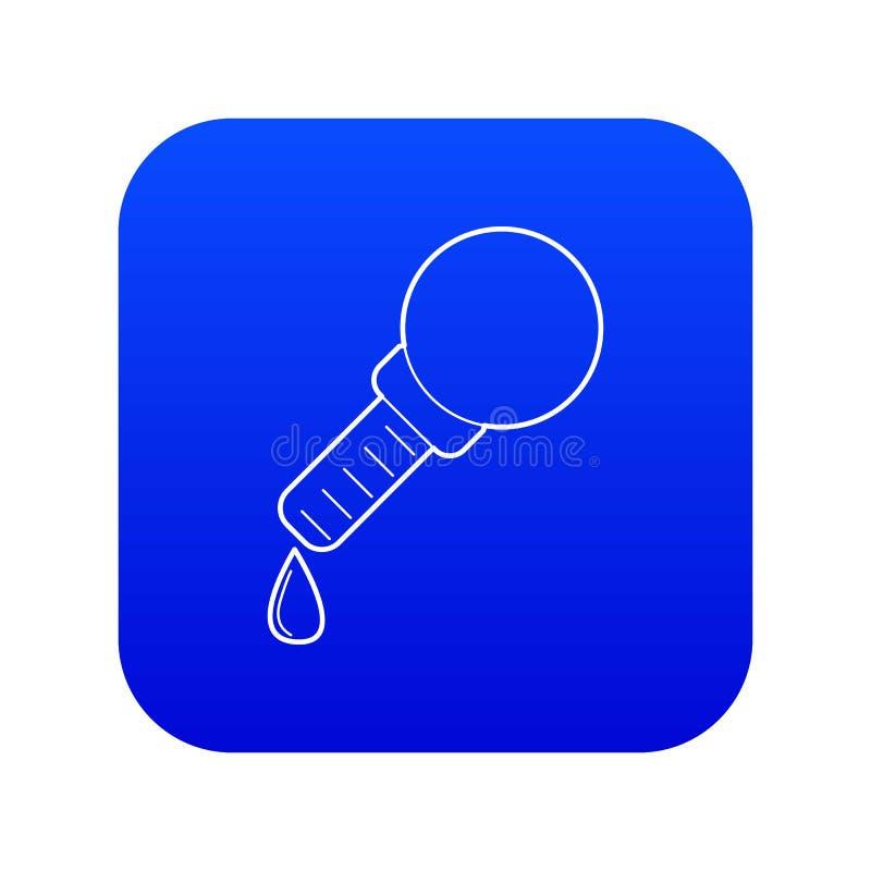 Vettore blu dell'icona della pipetta illustrazione vettoriale