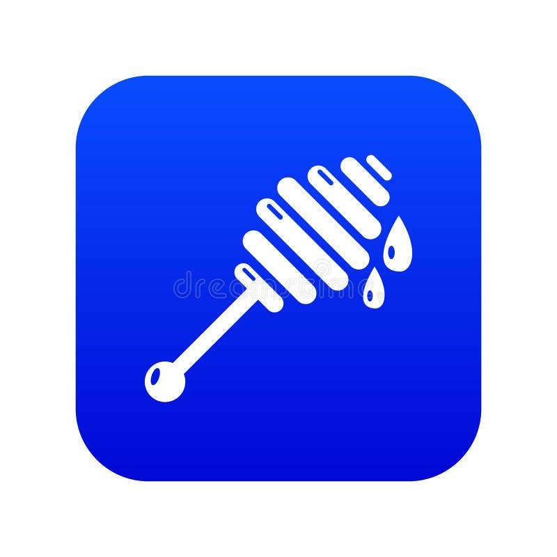 Vettore blu dell'icona della siviera del miele illustrazione di stock