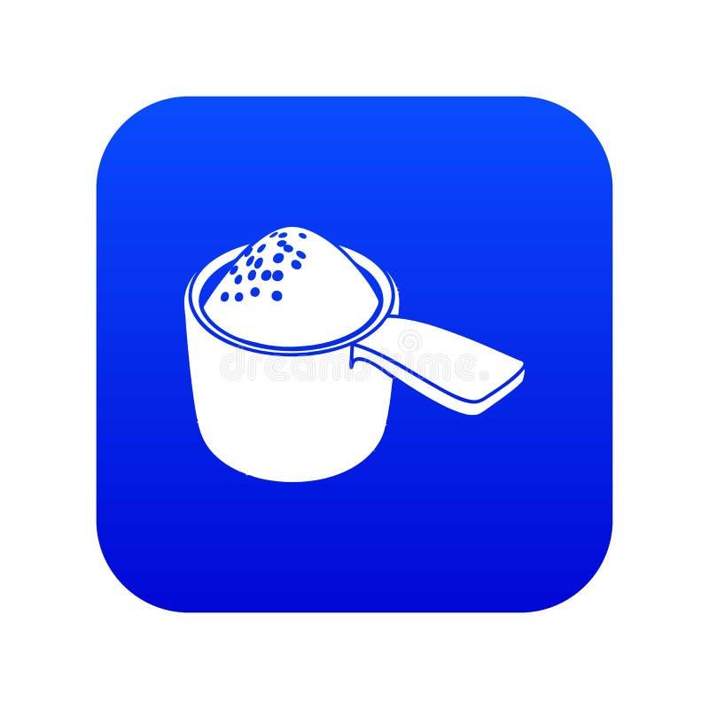Vettore blu dell'icona detergente della dose illustrazione vettoriale
