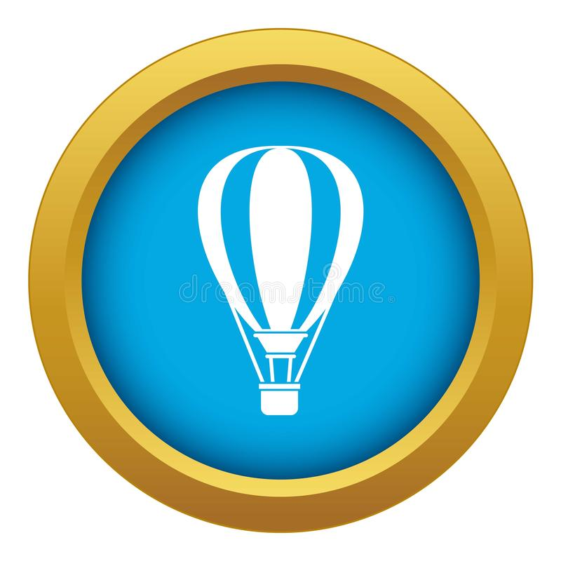 Vettore blu dell'icona di impulso dell'aria calda isolato illustrazione vettoriale