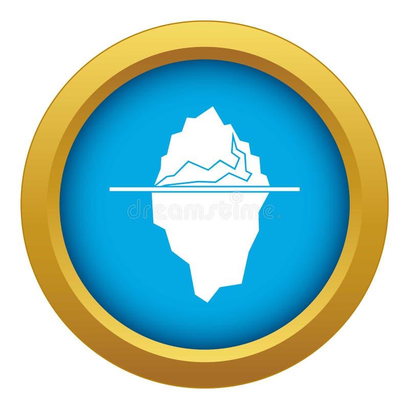 Vettore blu dell'icona dell'iceberg isolato illustrazione vettoriale