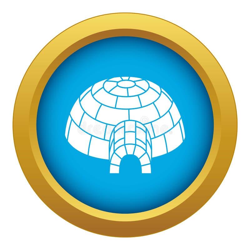 Vettore blu dell'icona dell'iglù dell'Alaska isolato royalty illustrazione gratis