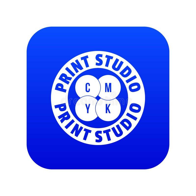 Vettore blu della nuova della stampa icona dello studio royalty illustrazione gratis