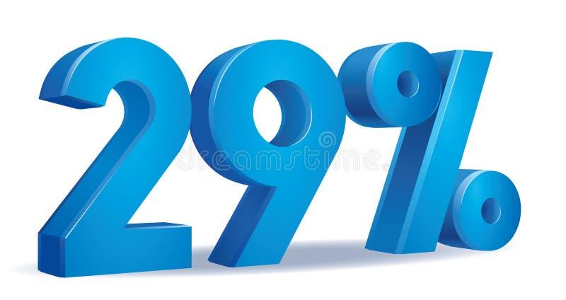 Vettore blu di colore di percentuale, 29 royalty illustrazione gratis
