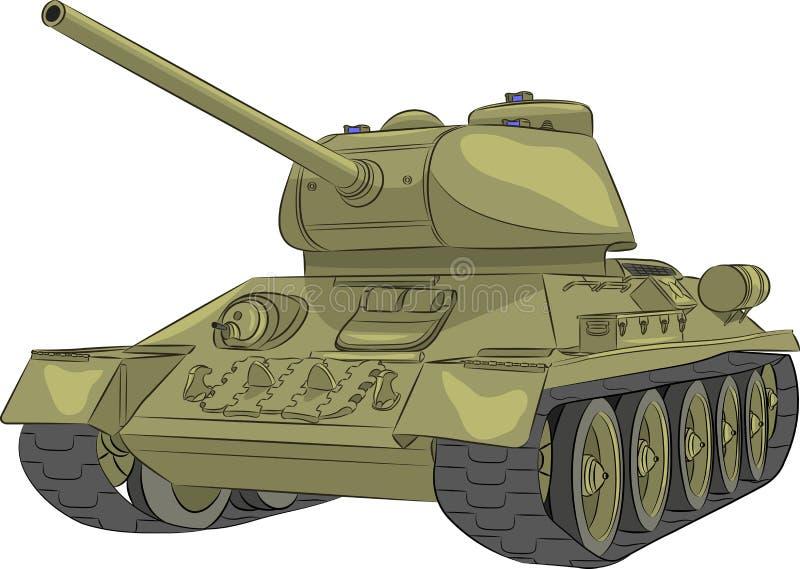 Vettore Carro armato medio T-34-85 royalty illustrazione gratis