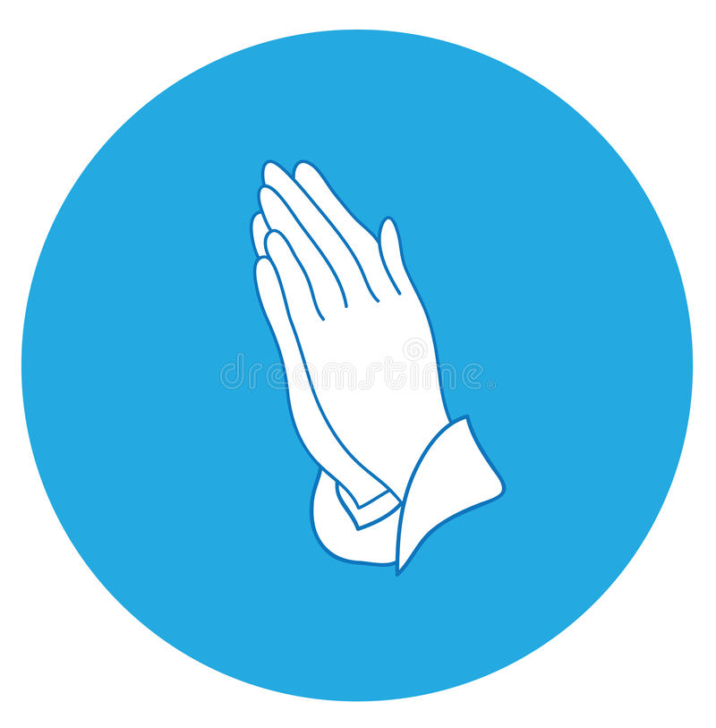 Vettore che prega le mani illustrazione vettoriale