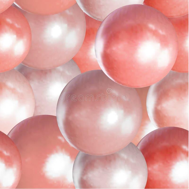 Vettore che vive Coral Color Background, palle della perla, tendenza di colore dei 2019 anni illustrazione vettoriale