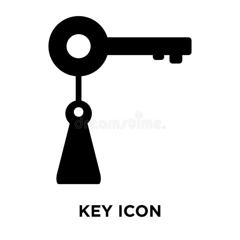 Vettore chiave dell'icona isolato su fondo bianco, concetto di logo del KE royalty illustrazione gratis