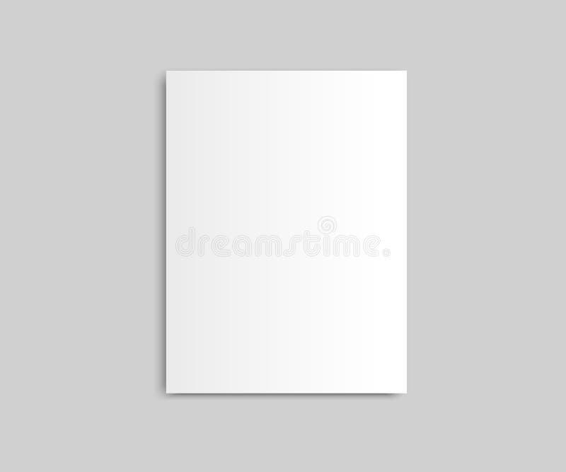 Vettore chiuso in bianco del modello della rivista del modello di vettore del giornale della rivista illustrazione vettoriale
