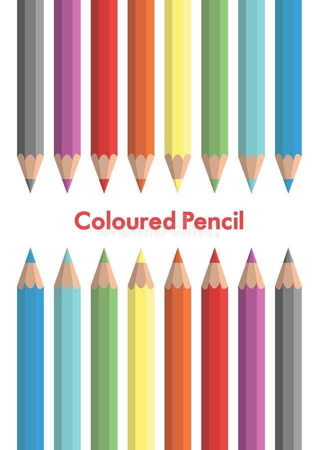 Vettore colorato della matita royalty illustrazione gratis