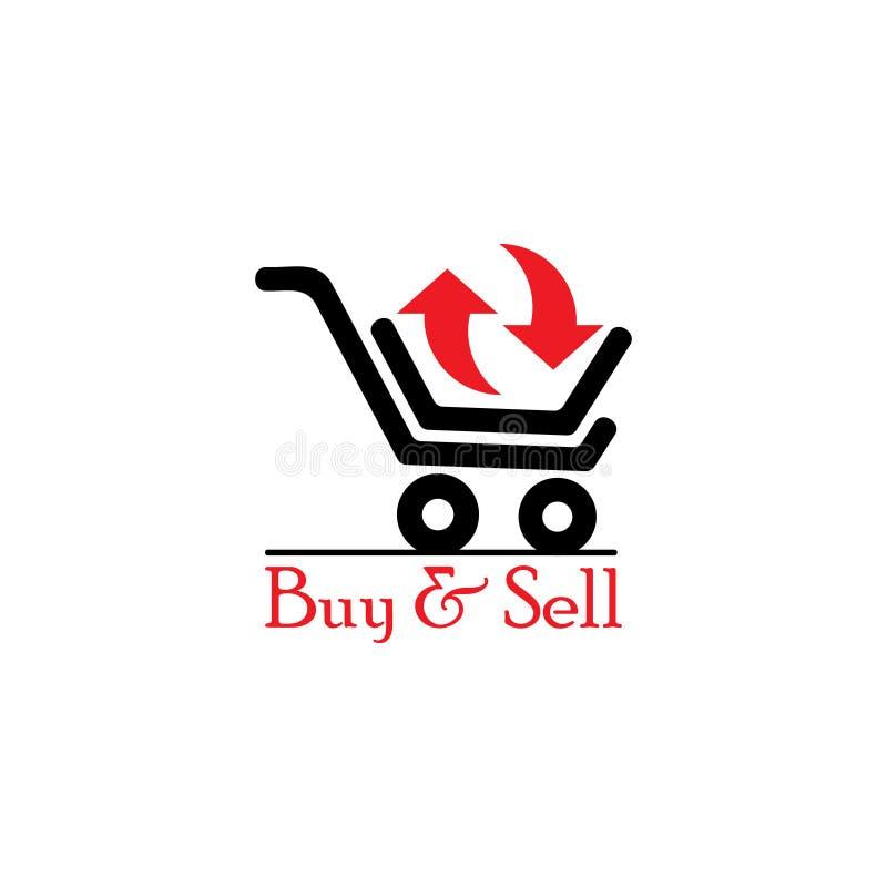 Vettore compra-vendita di simbolo del carrello illustrazione vettoriale