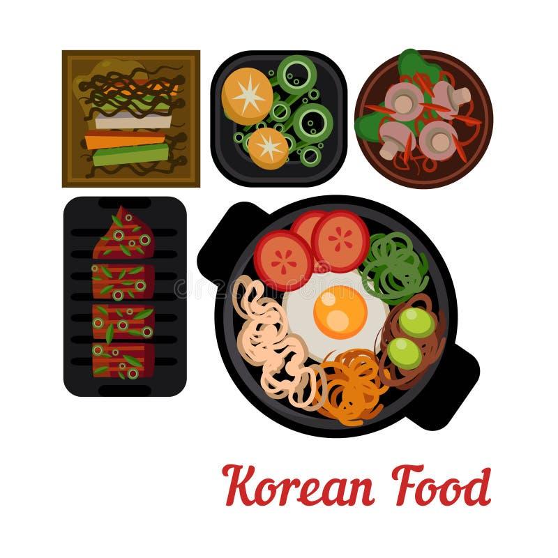 Vettore coreano dell'alimento dell'illustrazione dell'alimento illustrazione vettoriale