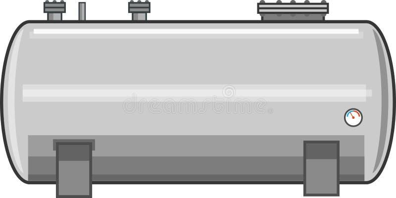 Vettore d'acciaio del serbatoio di combustibile immagine stock