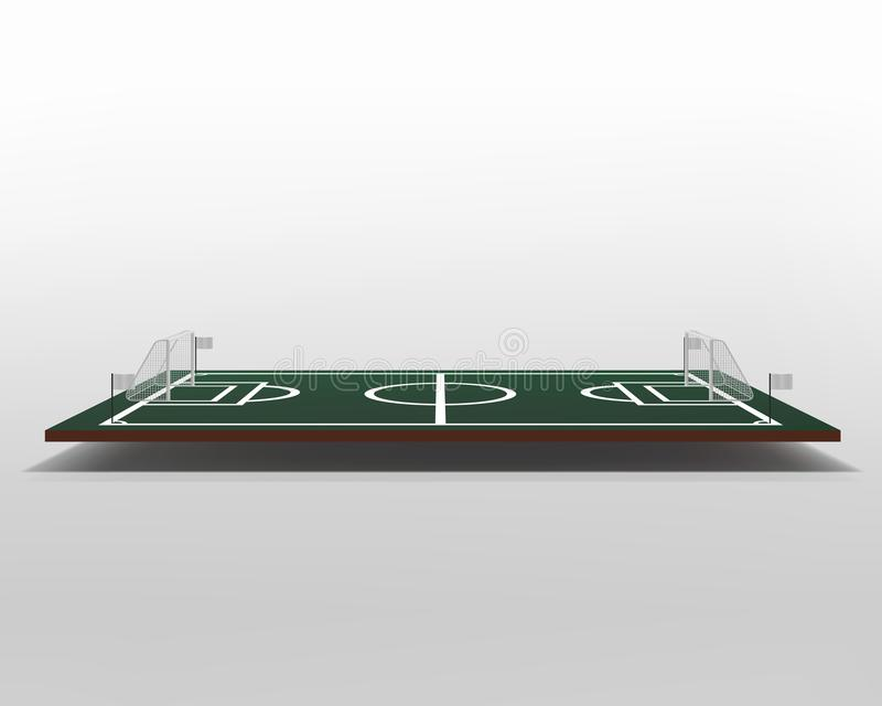 Vettore 3D del campo di football americano o di calcio calcio verde del campo Stadio di vettore del gioco illustrazione di stock