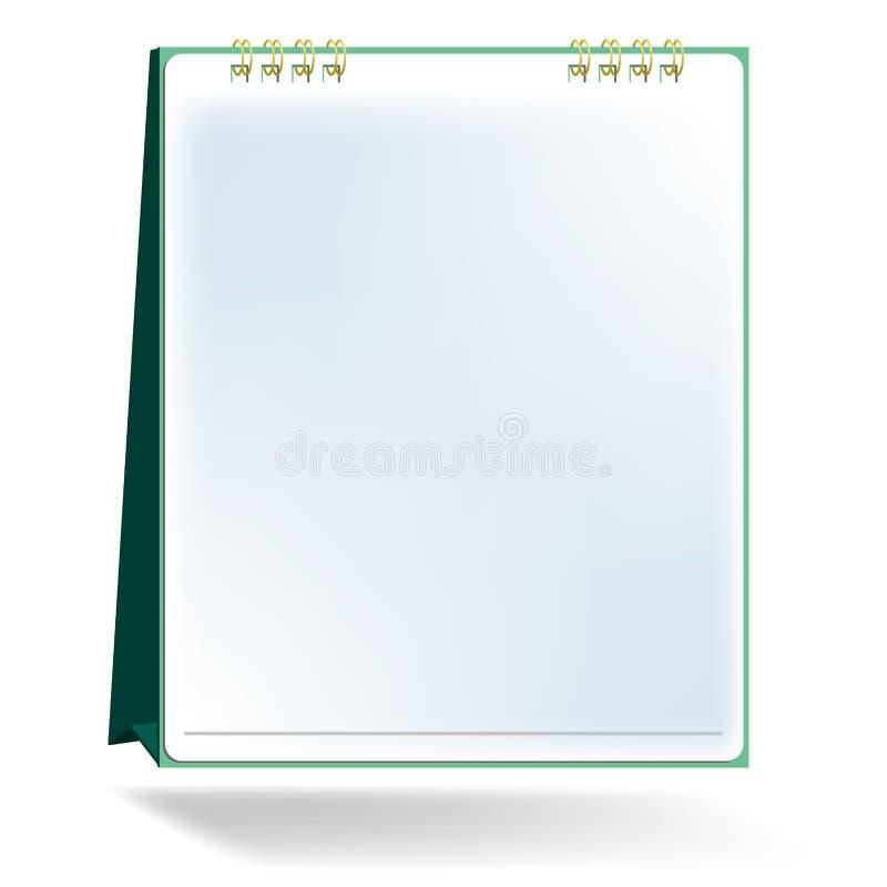 Vettore da tavolino in bianco del calendario royalty illustrazione gratis