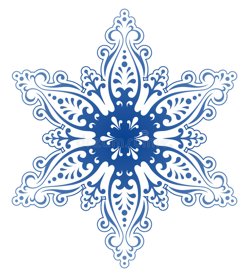 Vettore decorativo dell'ornamento del fiocco di neve royalty illustrazione gratis