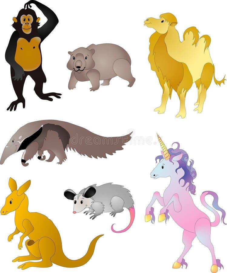 Vettore degli animali del fumetto illustrazione vettoriale