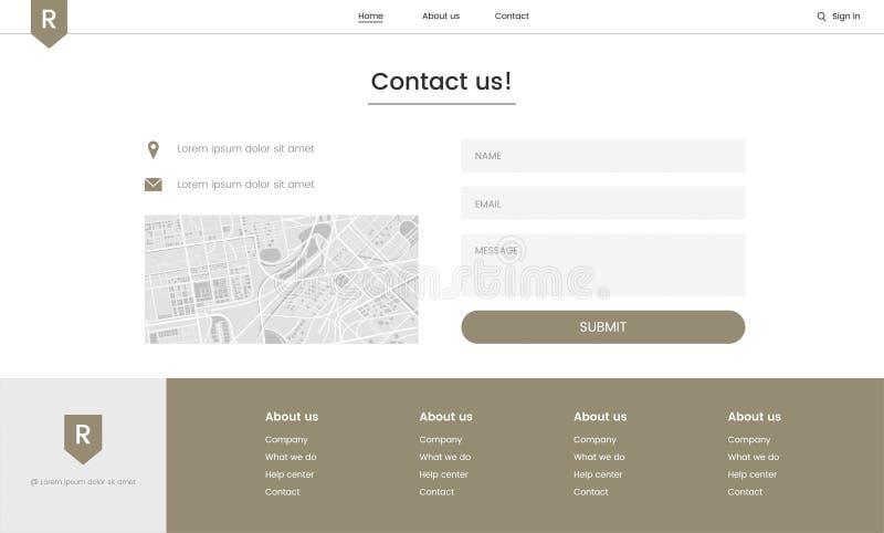 Elementi del sito web illustrazioni vettoriali e clipart for Design sito