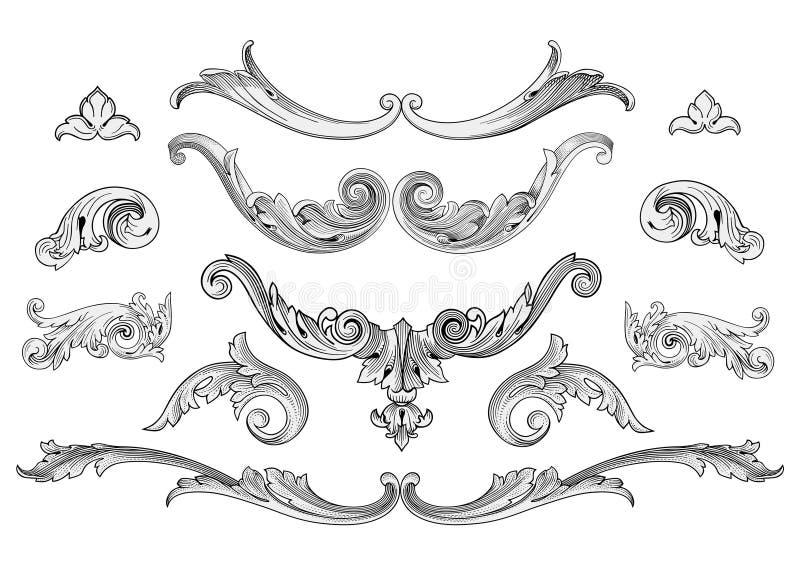 Vettore degli elementi di disegno royalty illustrazione gratis