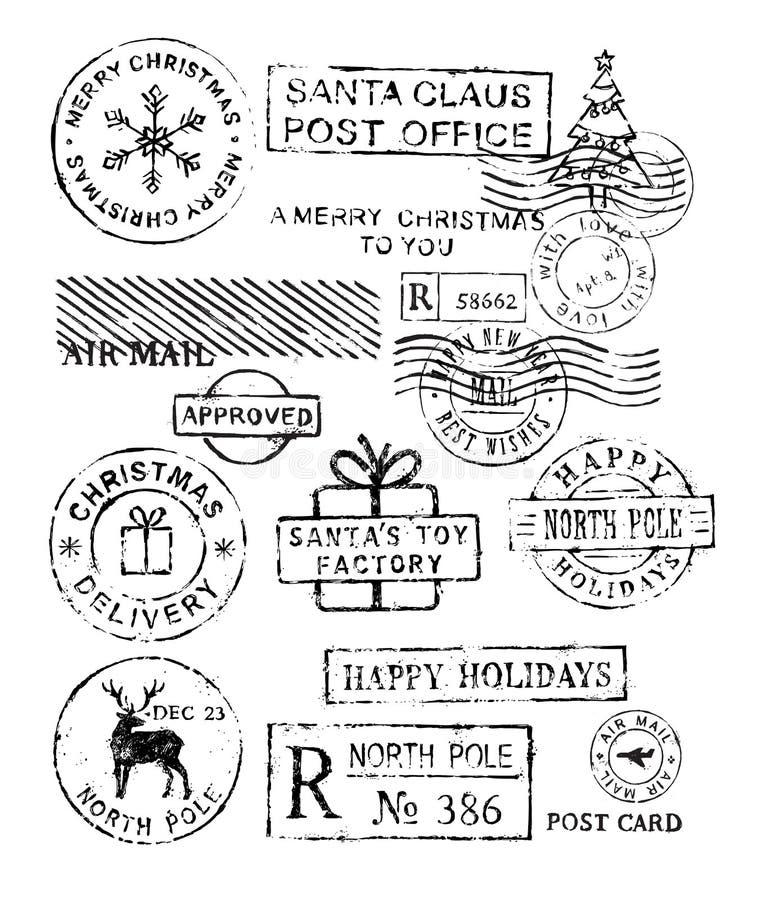 Vettore dei bolli di Natale illustrazione di stock