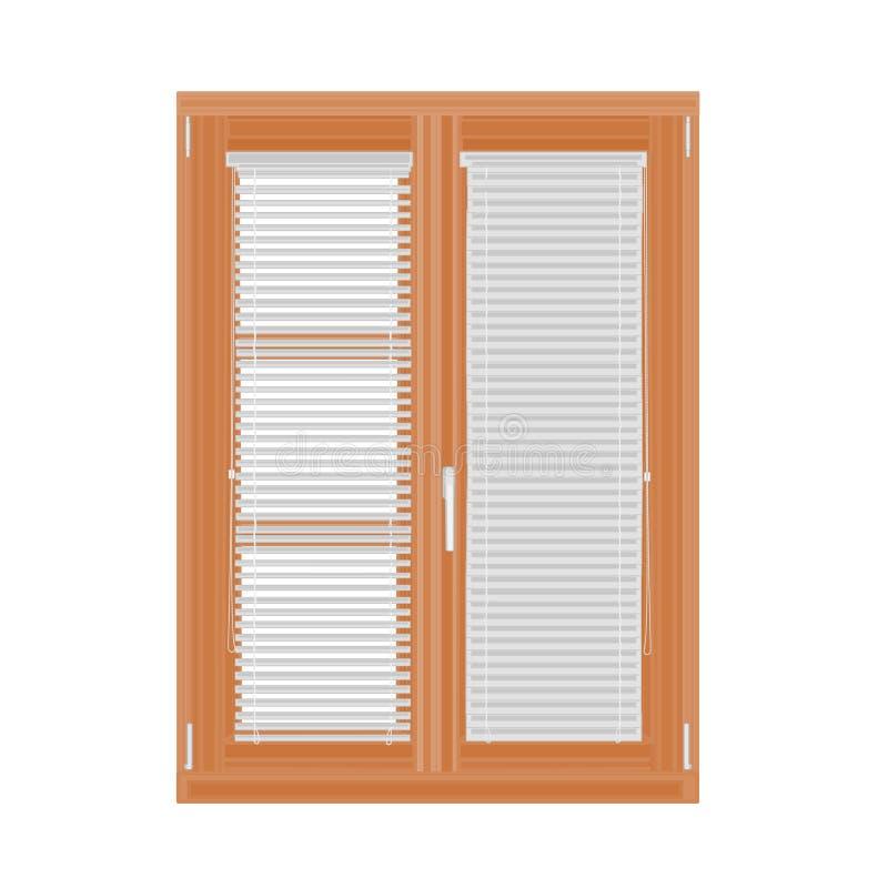 Vettore dei ciechi e della finestra royalty illustrazione gratis