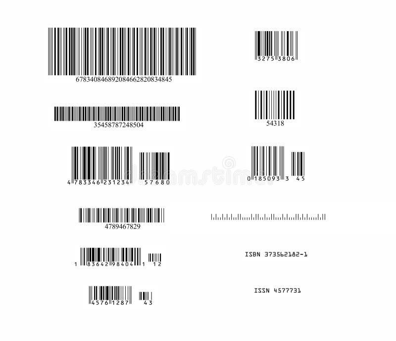 Vettore dei codici a barre illustrazione vettoriale