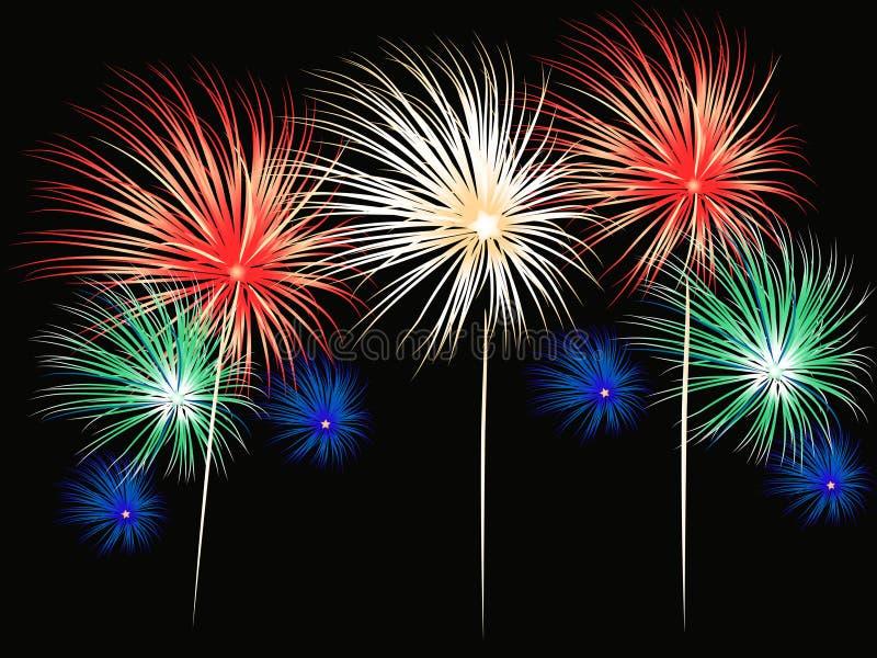 Vettore dei fuochi d'artificio illustrazione di stock
