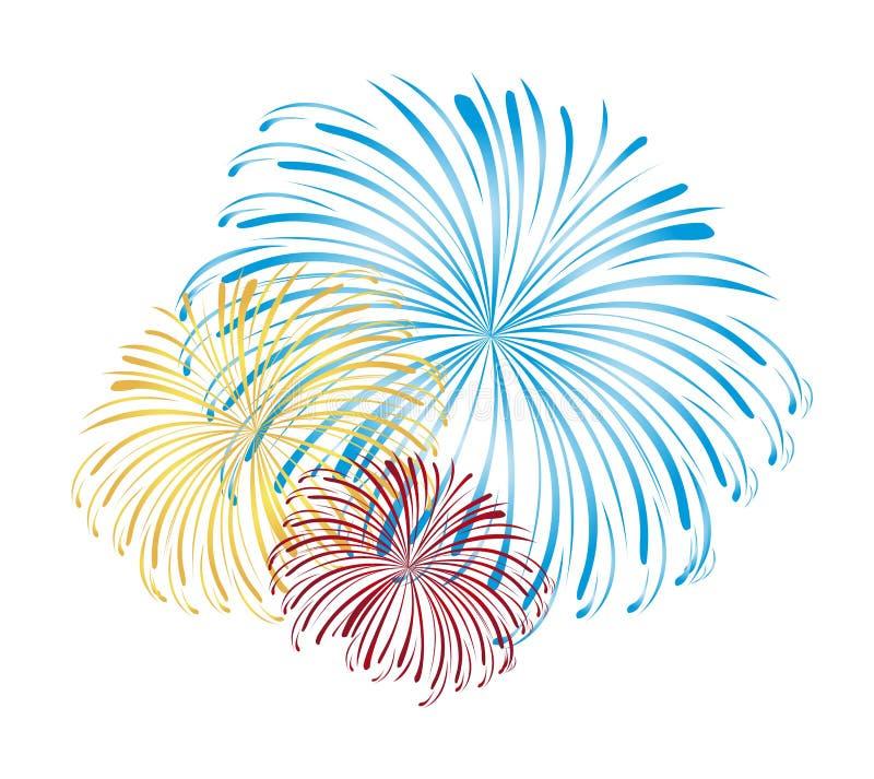 Vettore dei fuochi d'artificio royalty illustrazione gratis