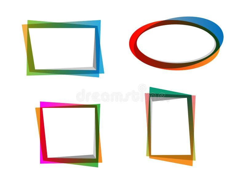 Vettore dei telai variopinti di pendenza immagini stock libere da diritti