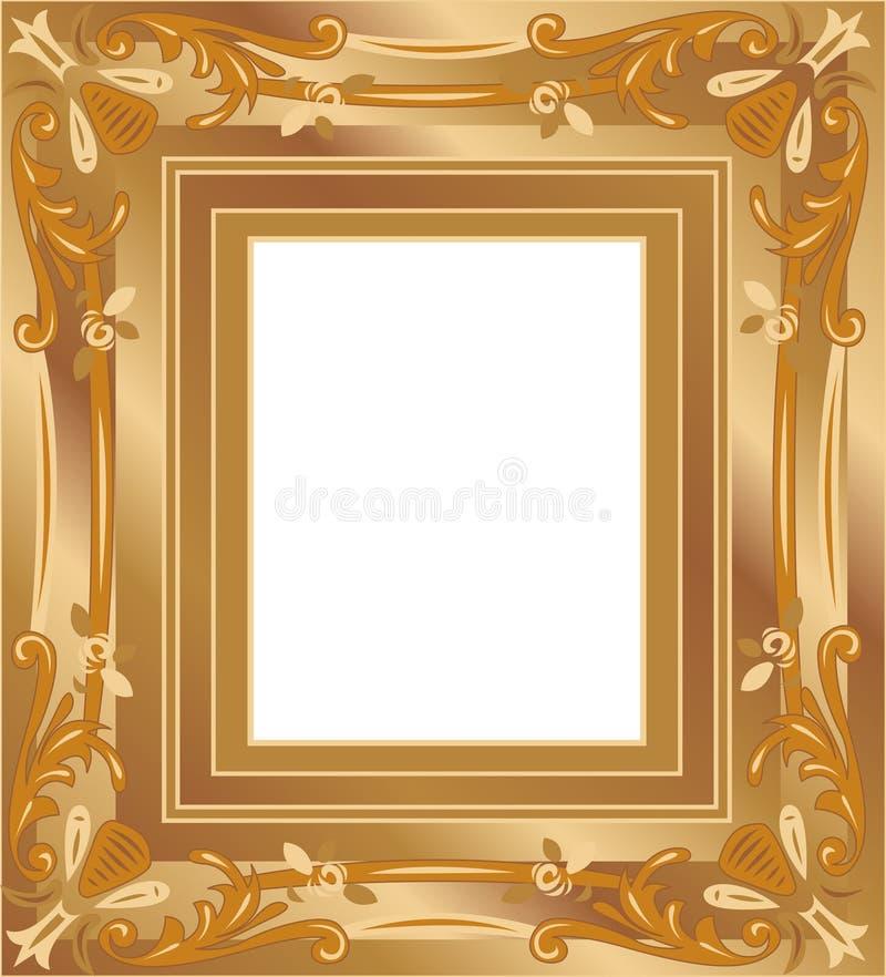 Vettore del blocco per grafici dell'oro illustrazione di stock