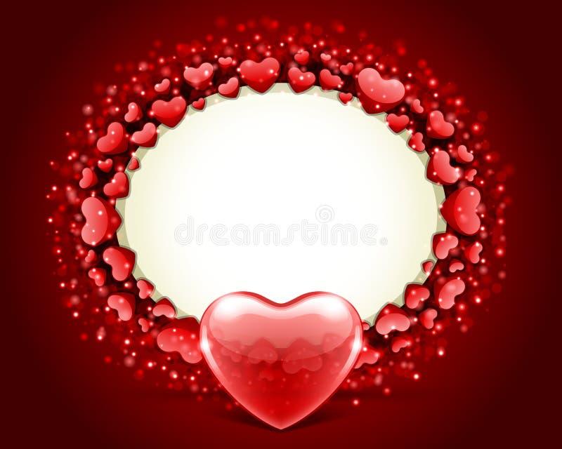Vettore del blocco per grafici di giorno del biglietto di S. Valentino con cuore royalty illustrazione gratis
