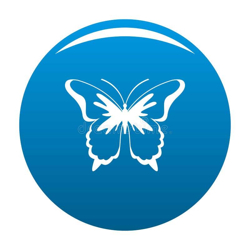 Vettore del blu dell'icona della farfalla dell'insetto illustrazione di stock