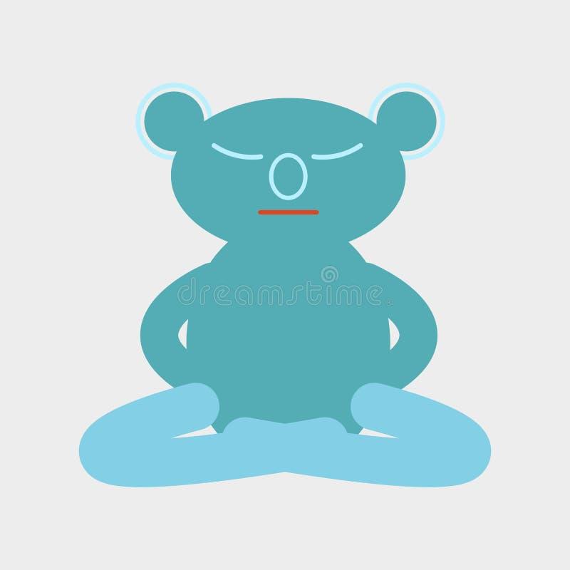 Vettore del blu dell'icona della koala fotografie stock