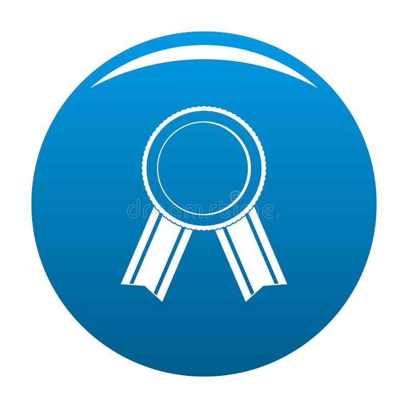 Vettore del blu dell'icona del nastro del premio illustrazione vettoriale