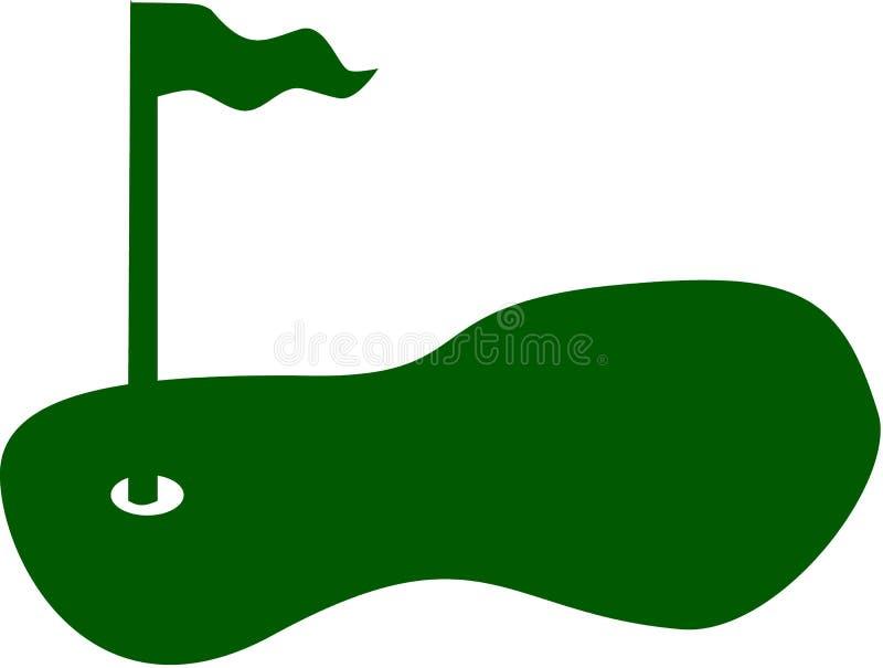 Vettore del campo da golf illustrazione di stock