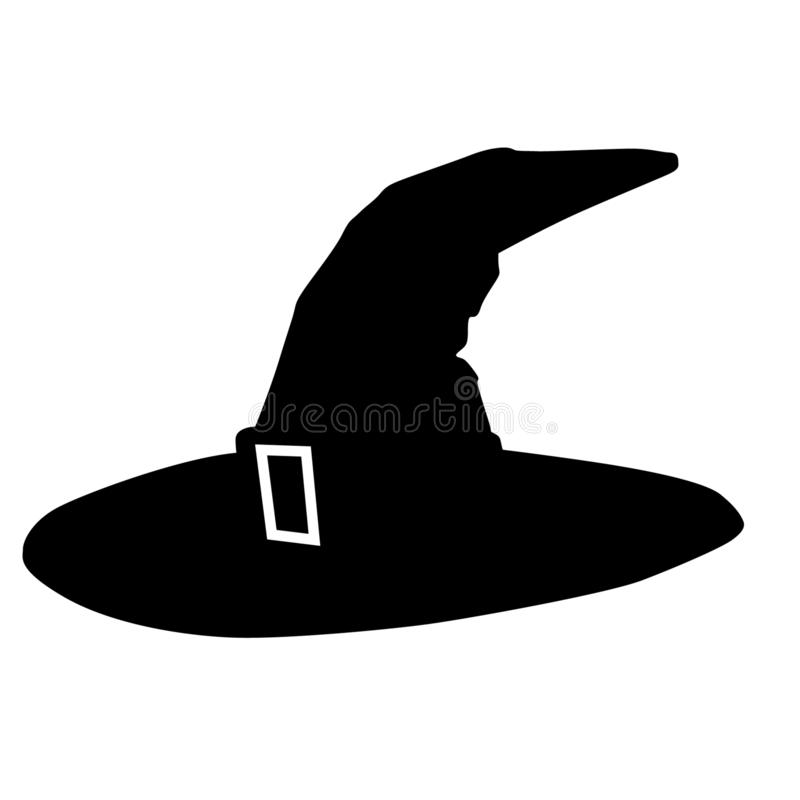 Vettore del cappello dello stregone, ENV, logo, icona, illustrazione della siluetta dai crafteroks per gli usi differenti Visiti  royalty illustrazione gratis