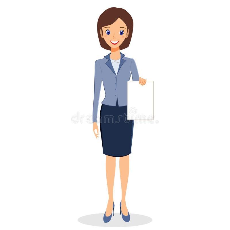 Vettore del carattere della donna di affari royalty illustrazione gratis