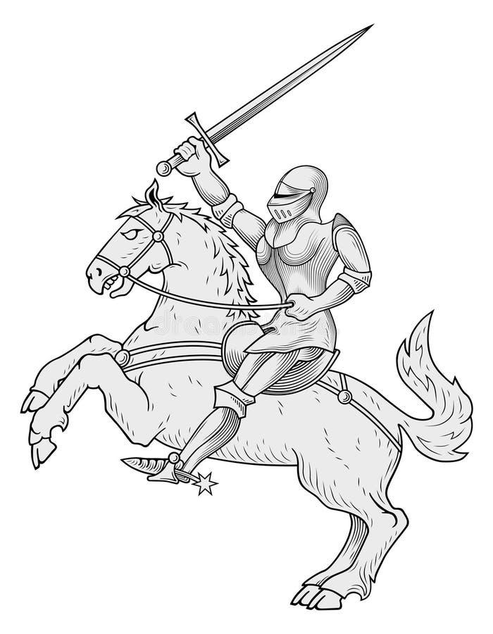Vettore del cavaliere illustrazione vettoriale