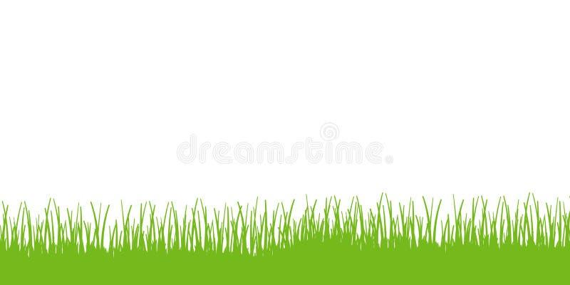 Vettore del confine dell'erba illustrazione di stock